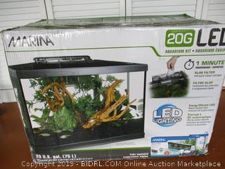 Marina Aquarium Kit - 20 gallon Fish Tank - LED
