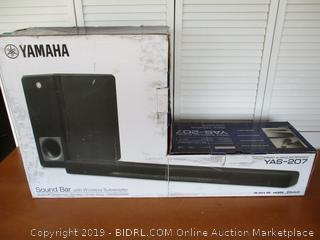 Yamaha YAS-207BL Sound Bar with Wireless Subwoofer Bluetooth & DTS Virtual (Retail $230)