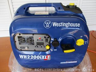 Westinghouse WH2200iXLT Super Quiet Portable Inverter Generator - 1800 Rated Watts and 2200 Peak Watts - Gas Powered - CARB Compliant (Retail $400)