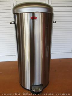Innovaze Step Trash Can, Round Retro Stylish Bin 5 Liter + 30 Liter Combo (Large Can Dented)