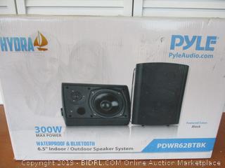Pyle Pair of Wall Mount Waterproof & Bluetooth 6.5'' Indoor/Outdoor Speaker System PDWR62BTBK (Retail $130)