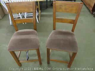 Two Ashley Upholstered Bar Stools