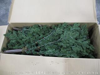 8.5' Noble Slim LED-One Plug White Christmas Tree