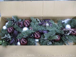 6' Silver & Purple Garland