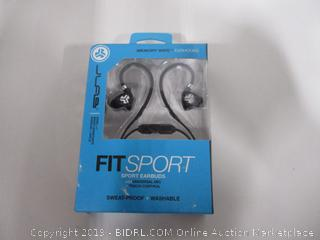 JLab Fit 2.0 Sport Earbuds, Sweatproof and Water Resistant