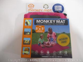 Monkey Mat Pink Shark Tank 5' x 5' Portable Outdoor Nylon Water Repellent Soft