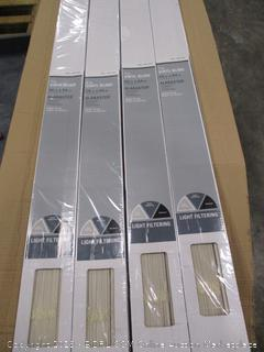 "Hampton Alabaster Cordless 1"" Vinyl Blinds"