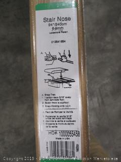 Zamma Lakeshore Pecan 3/4 in. Thick x 2-1/8 in. Wide x 94 in. Length Laminate Stair Nose Molding