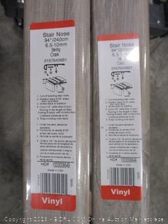 Zamma Sterling Oak 1 in. Thick x 2-1/2 in. Wide x 94 in. Length Vinyl Stair Nose Molding