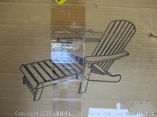 Outdoor Interiors CD3111 Eucalyptus Adirondack Chair and Built In Ottoman ($175 Retail)