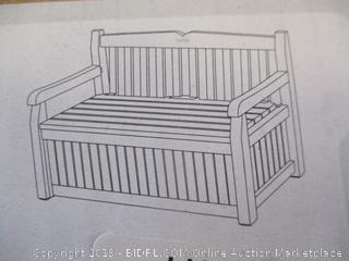 Keter Eden Storage Bench Deck Box for Patio Decor and Outdoor Seating (Factory Sealed)