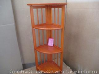 Folding 4-Tier Corner Shelf