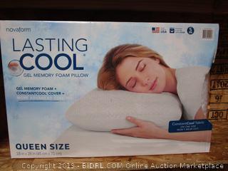 Lasting Cool Queen Size Gel Memory Foam Pillow