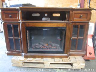Electric Fireplace Console