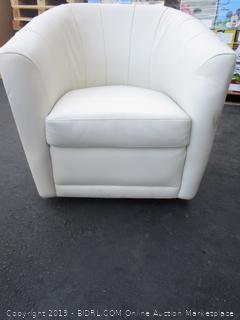 White Vinyl/Leather Living Chair