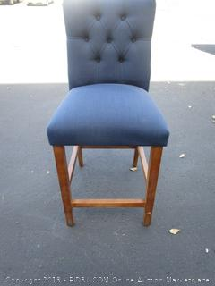 Adjustable Blue Fabric Stool Chair