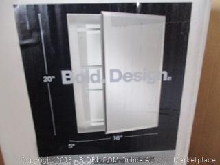 Kohler K-CB-CLR1620FS Frameless 16 inch x 20 inch Aluminum Bathroom Medicine Cabinet (Factory Sealed, Opened For Picture)