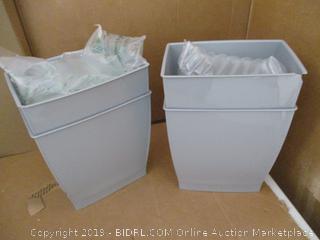 iDesign Spa Rectangular Trash Can