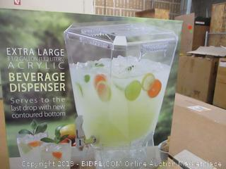Extra Large Acrylic Beverage Dispenser
