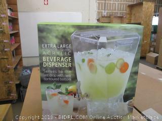 Extra Large Acrylic Beverage Dispenser
