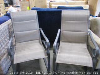 Crestridge Padded Sling Spring Dining Chair