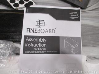 Fineboard FB-D04-BKW Home Office Desk with 3 Drawers