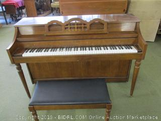 Whitney By Kimball Upright Piano With Bench