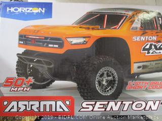 ARRMA 1/10 SENTON 4X4 3S BLX Brushless 4WD RC Short Course Truck RTR with 2.4GHz Radio (Battery Not Included), Orange/Black (ARA102721T2) ($299 Retail)
