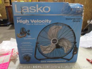"""Lasko 20"""" High Velocity Floor or Wallmount Fan (Please Preview)"""
