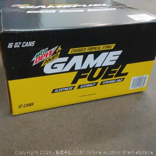 Mt Dew Amp Charged Tropical Strike Game Fuel 12 cans