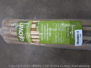 (Wall A)grow it bamboo plant Stakes 6 ft