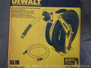 DeWalt 1/2 in x 50 ft Auto retracting steel hose reel