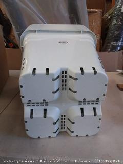 "Hydrofarm White 12"" x 12"" Square Planter pot HG12x12SW( 10ct)"
