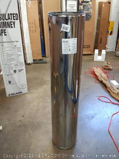 (Wall A)Selkirk 208148 Sure Temp 8 By 48 Insulated Chimney Pipe