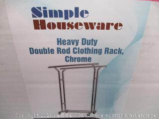 Simple Houseware Heavy Duty Double Rod Clothing Rack