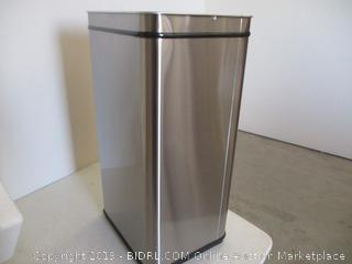 13 Gallon Stainless Steel Touchless Trash Can Plus