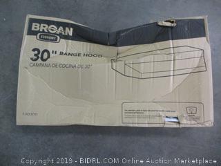 "30"" Range Hood"
