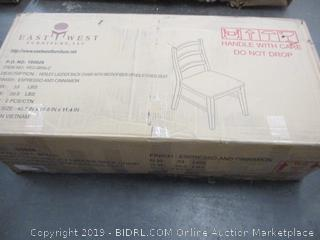 Ladder Back Chair w/ Microfiber Upholstered Seat