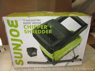 Electric Silent Wood Chipper + Shredder