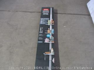 quick-extend aluminum pole caddy