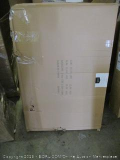 "42"" single door folding metal dog crate"