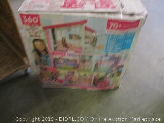 Barbie DreamHouse fully furnished toy set - slight damage, possibly incomplete