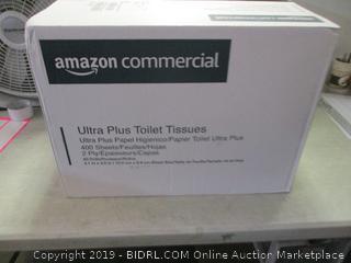 ultra plus toilet tissues - open, box damage