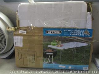 Lifetime 4 ft adjustable folding table