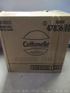 Cottonelle double roll toilet paper, 48 pack - open bag