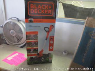 Black + Decker 3 in 1 corded compact mower