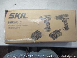 SKIL Pwrcore 12 brushless 12V drill/driver & impact driver kit - box damage