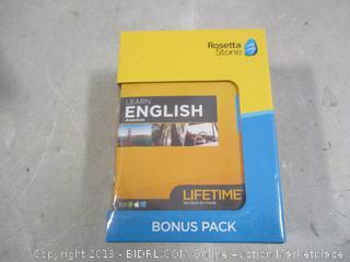 Rosetta Stone, English