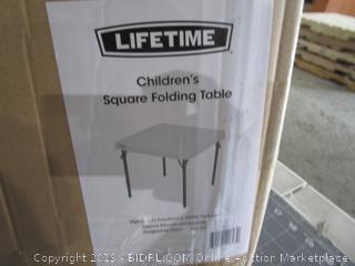 Children's Square Folding Table