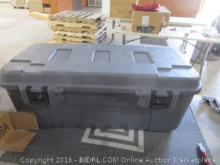 Plano Sportsman Trunk with wheels missing part